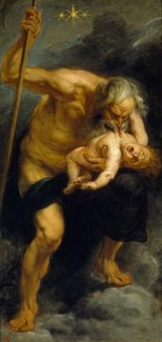 Saturno devora a sus hijos (pintura atribuida a Goya).
