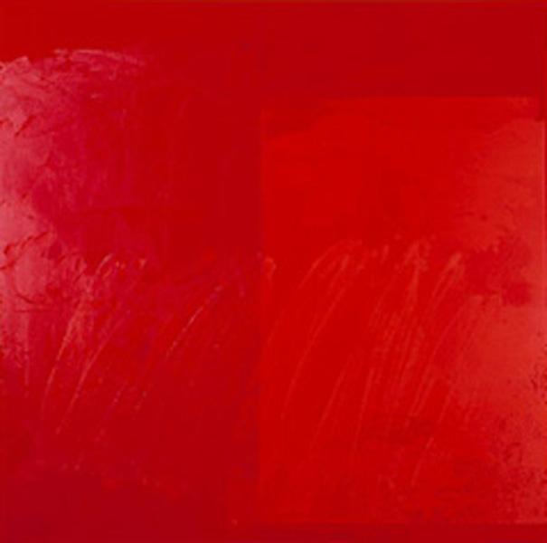 Abstracto rojo (1952) de Ad  Reinhardt.