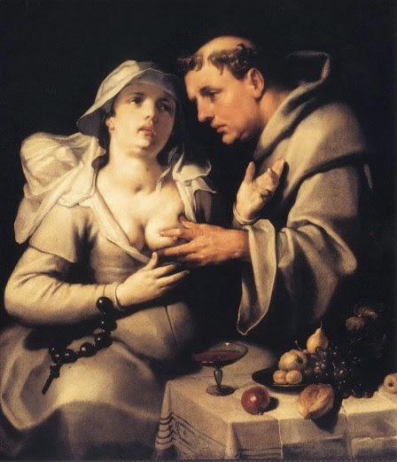 """""""El monje y la monja"""", de Cornelis van Haarlem (1562 - 1638)."""