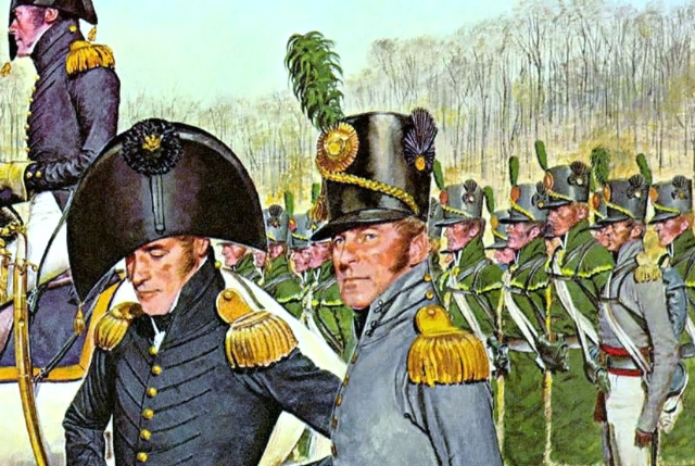 Así iba uniformado el ejército estadounidense que invadió Canadá.