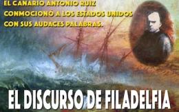 """Presentación en Tenerife del libro """"El discurso de Filadelfia"""" (estancia Ruiz de Padrón en EstadosUnidos)"""